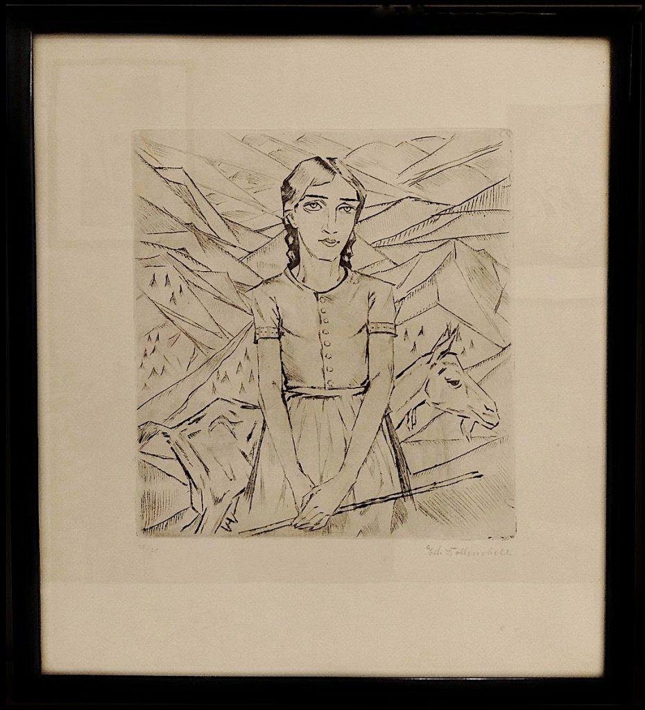Portrait Mädchen von Eduard Dollerschell